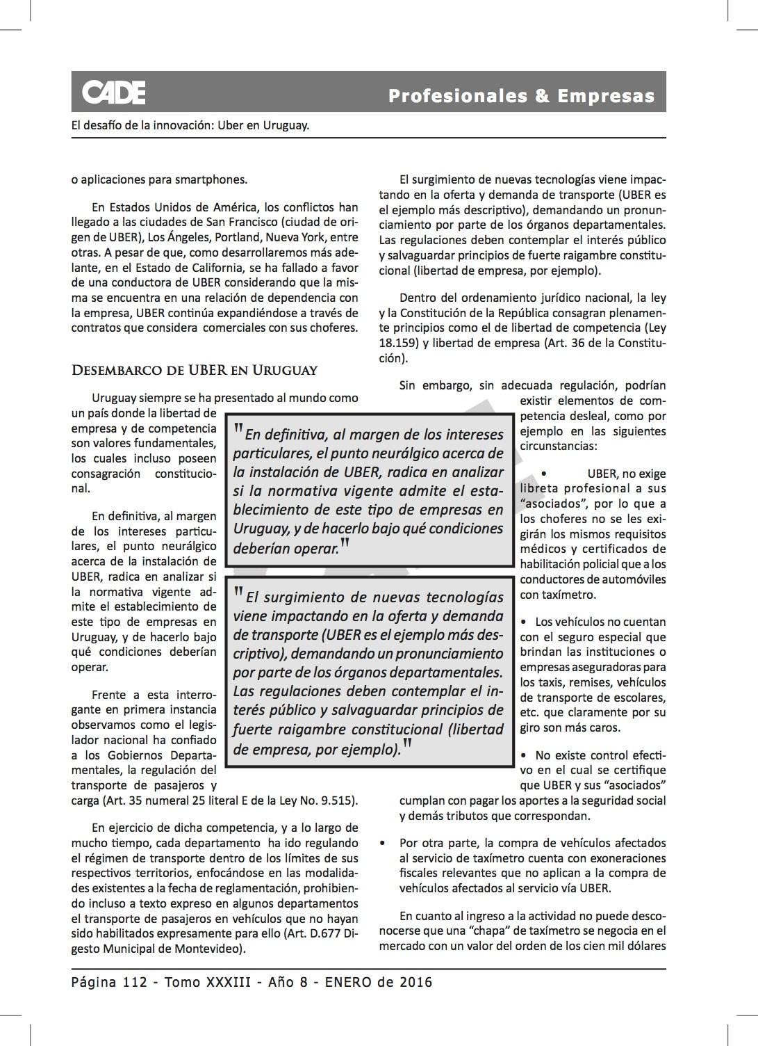 2 PROF & EMP. TOMO XXXIII UBER - SALDAIN