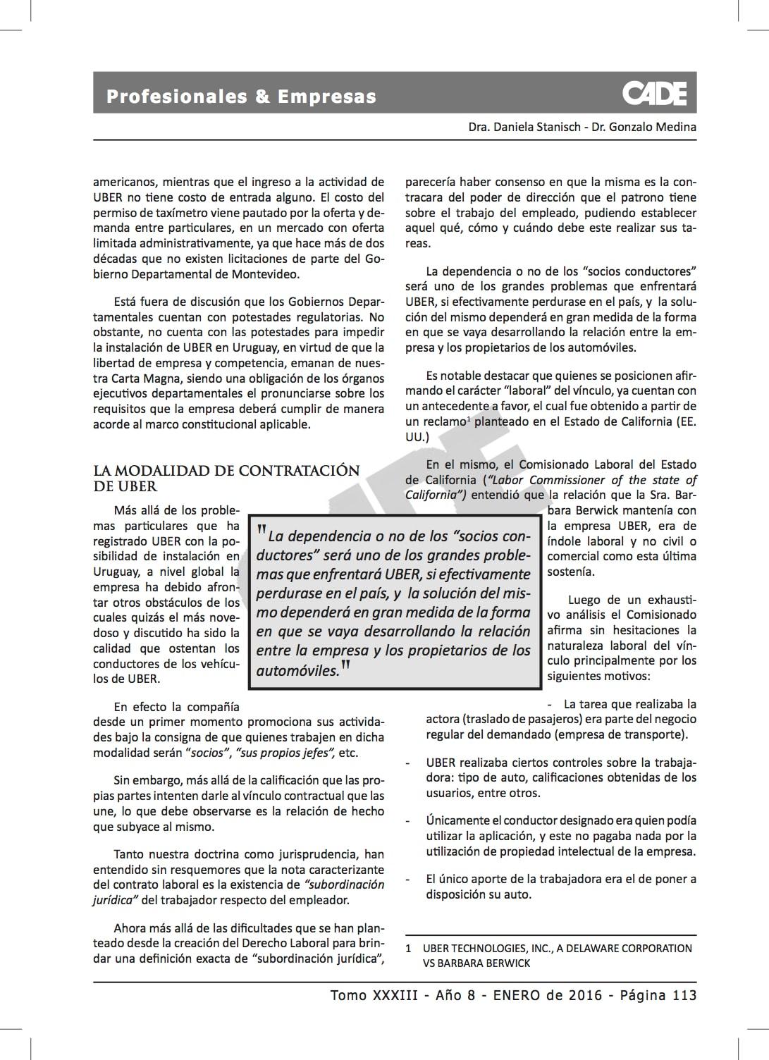 3 PROF & EMP. TOMO XXXIII UBER - SALDAIN